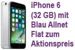 DEAL: Apple iPhone 6 (32 GB) mit Blau Allnet 3GB zum Aktionspreis