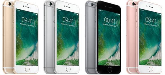 Apple iPhone 6s günstig mit Blau Vertrag (z.B. Blau Allnet)
