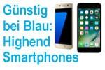 Blau Bundles Highend-Smartphones mit Allnet Flat zum Sparpreis