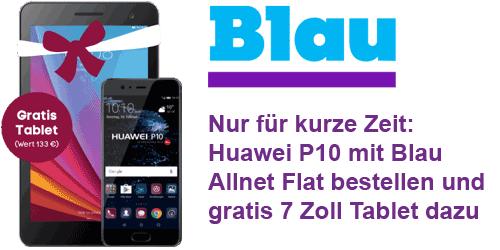 Huawei P10 bei Blau mit gratis Tablet