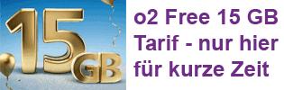 o2 Free 15 GB - Aktionstarif