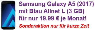 Samsung Galaxy A5 (2017) mit Blau Allnet Flat zum Aktionspreis