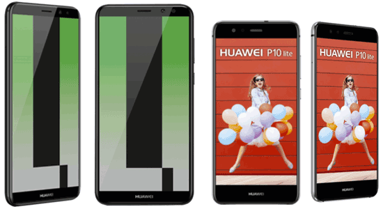 Huawei Mate 10 lite / Huawei P10 lite bei Blau