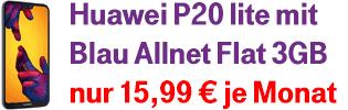 Blau Allnet Flat Aktion mit Huawei P20 lite