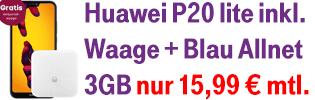 Aktion Huawei P20 lite mit gratis Körperfettwaage