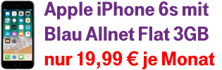Apple iPhone 6s bei Blau.de
