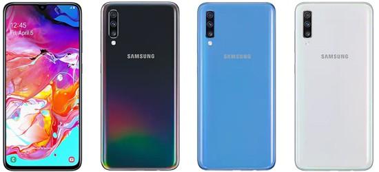 Samsung Galaxy A70 mit Blau.de Vertrag