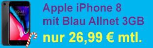 Apple iPhone 8 bei Blau.de