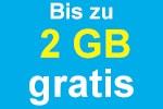 Bis 2 GB Datenvolumen gratis - Blau Allnet Flat Tarife