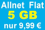Aktion: Blau Allnet Flat 5GB zum Aktionspreis
