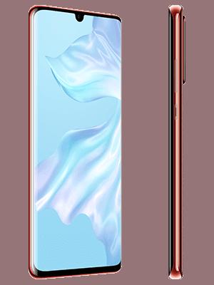 Blau.de - Huawei P30 Pro - amber sunrise / rot (seitlich)