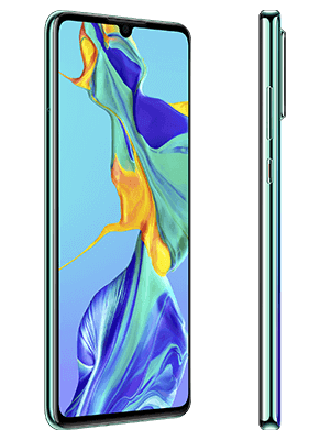 Blau.de - Huawei P30 - aurora / blau (seitlich)