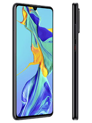 Blau.de - Huawei P30 - schwarz (seitlich)