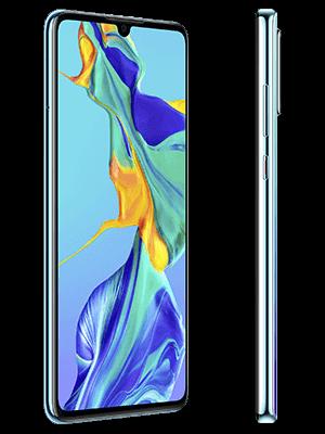 Blau.de - Huawei P30 - weiß (seitlich)
