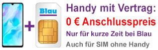 Kein Anschlusspreis bei Blau.de