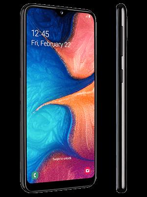 Blau.de - Samsung Galaxy A20e - schwarz (seitlich)