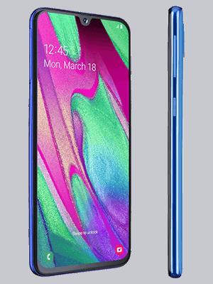 Blau.de - Samsung Galaxy A40 - blau (seitlich)