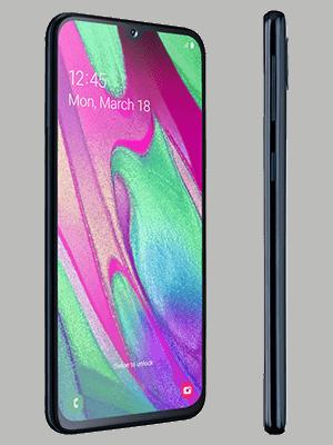 Blau.de - Samsung Galaxy A40 - schwarz (seitlich)