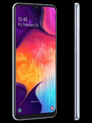 Blau.de - Samsung Galaxy A50 - weiss (seitlich)
