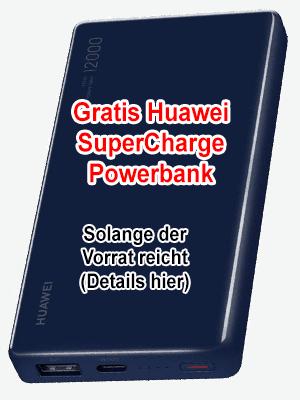Huawei Powerbank gratis - SuperCharge