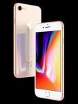 Blau.de - Apple iPhone 8 - gold (seitlich)