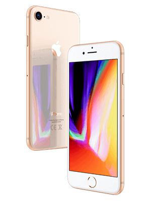 Blau.de - Apple iPhone 8 - gold (seitlich)