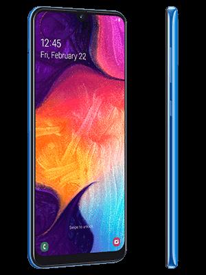 Blau.de - Samsung Galaxy A50 - blau (seitlich)