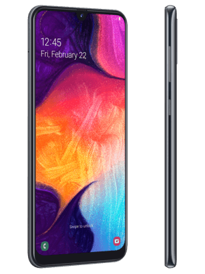Blau.de - Samsung Galaxy A50 - schwarz (seitlich)