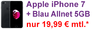 Apple iPhone 7 bei Blau.de