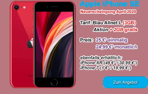 Apple iPhone SE günstig bei Blau.de