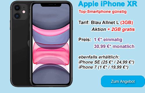 Apple iPhone XR günstig bei Blau.de