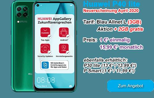 Huawei P40 lite bei Blau.de