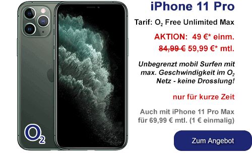 Apple iPhone 11 Pro günstig bei o2