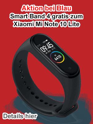Xiaomi Smart Band 4 gratis zum Mi Note 10 Lite