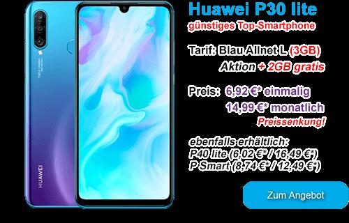 Huawei P30 lite günstig bei Blau.de