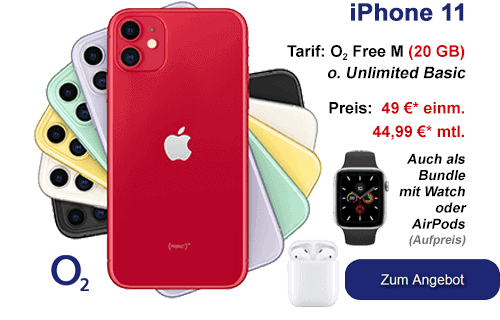 Apple iPhone 11 günstig bei o2