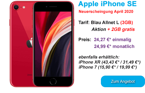 Apple iPhone SE günstige bei Blau.de