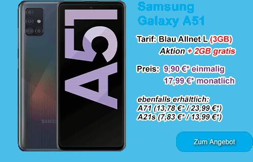Samsung Galaxy A51 günstig bei Blau.de
