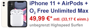 iPhone 11 bei o2 - mit Apple AirPods