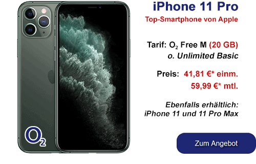 Apple iPhone 11 Pro bei o2