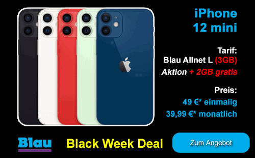 Apple iPhone 12 mini günstig bei Blau.de