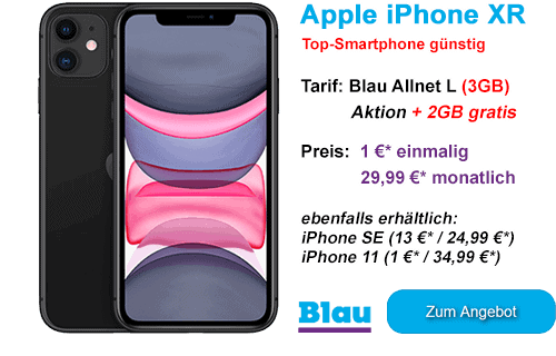 Apple iPhone XR günstig bei Blau.de