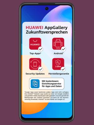 Blau - Huawei P smart 2021 mit AppGallery Zukunftsversprechen