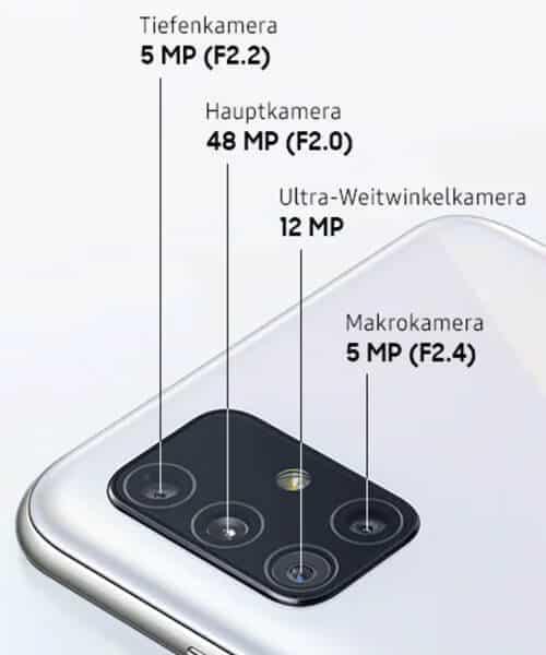 Kamera des Samsung Galaxy A51