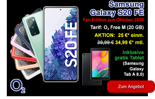 Samsung Galaxy S20 FE günstig bei o2 - Black Friday Deal