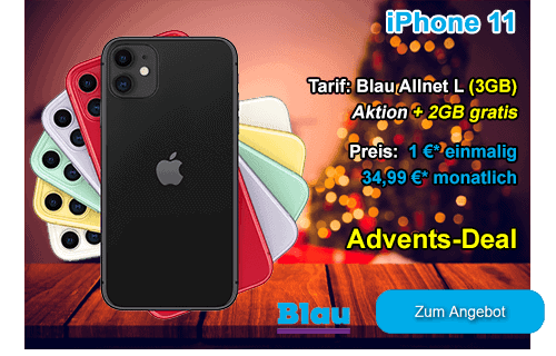 Angebot von Blau.de - Apple iPhone 11