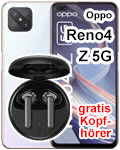 Blau.de - Oppo Reno4 Z 5G mit gratis Kopfhörer
