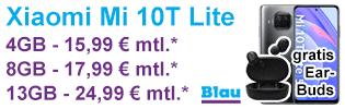 Xiaomi Mi 10T Lite bei Blau.de