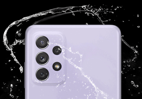 Schutz gegen Staub und Wasser beim Samsung A72