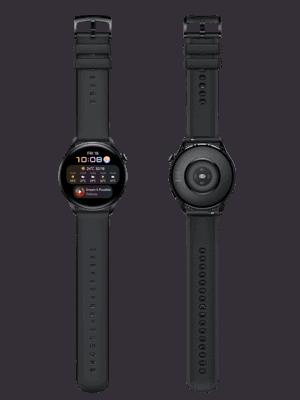 Blau.de - Huawei Watch 3 - vorn und hinten in schwarz